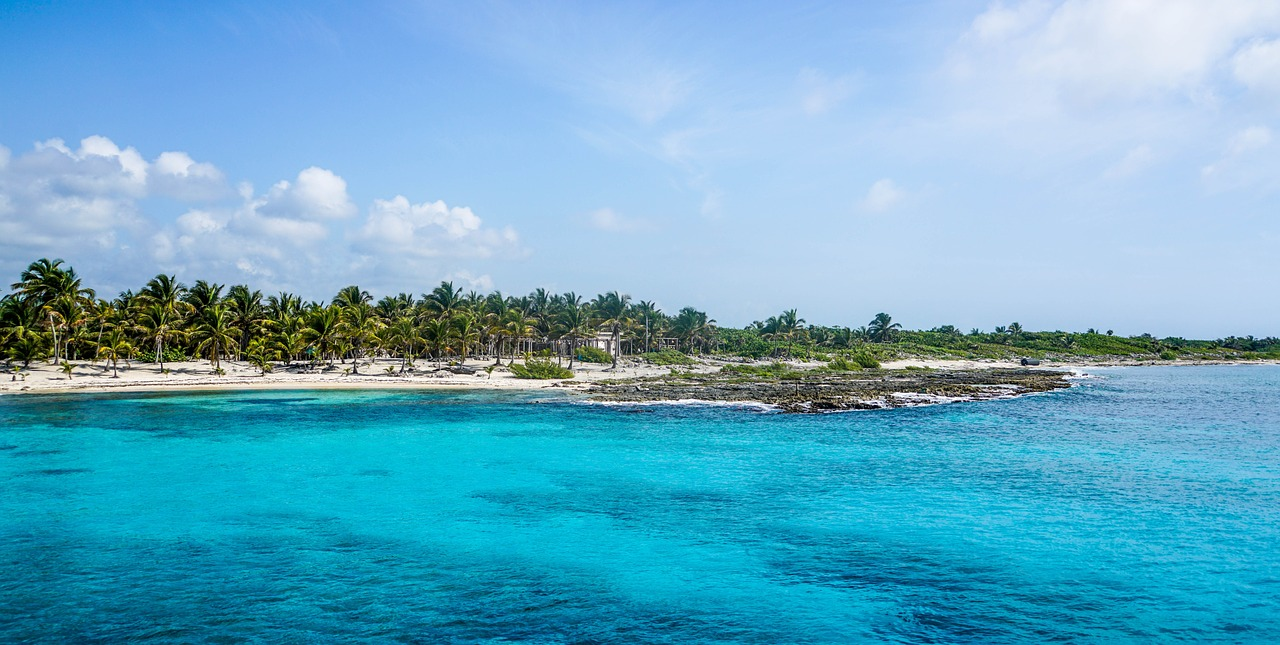 A view of Cozumel Island from the water
